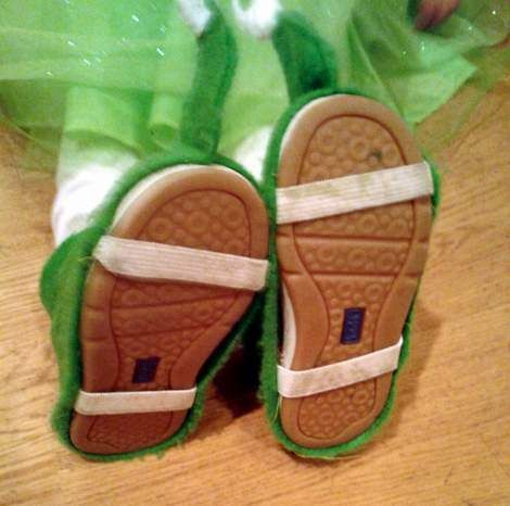 DIY shoe covers for costumes