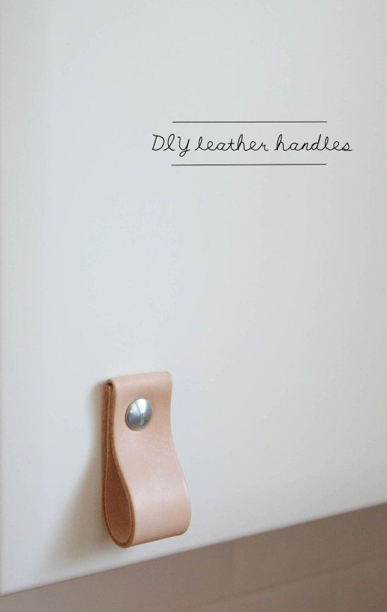 DIY leather kitchen door handles | Apartment Apothecary | Bloglovin'