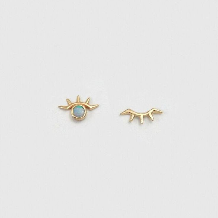 Wink Earring with Opal - local eclectic  - 1