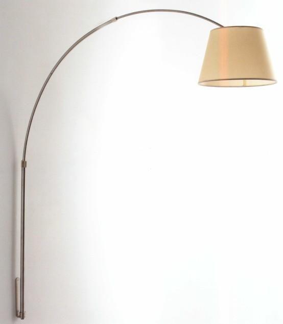 BOING LAMPADA DA PARETE AD ARCO IN METALLO NICHEL SPAZZOLATO- 264 eur
