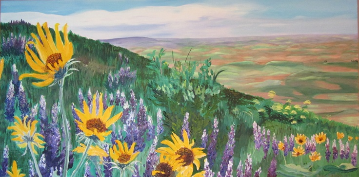 The Palouse in Spring by Amber Middaugh