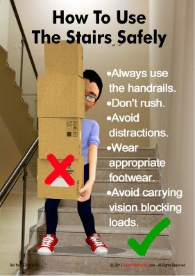 Stair Safety : How to use the stairs safely   Occupational ...