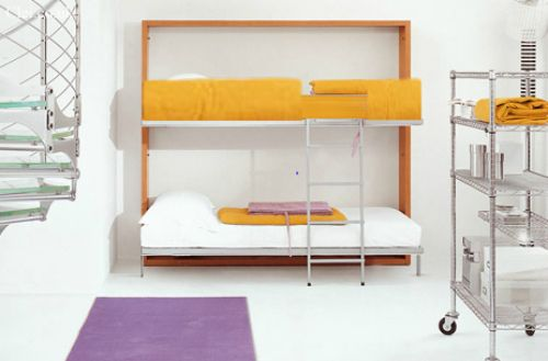 Murphy Bunk Bed. Just fold it up! Perfect for older twins sharing a room