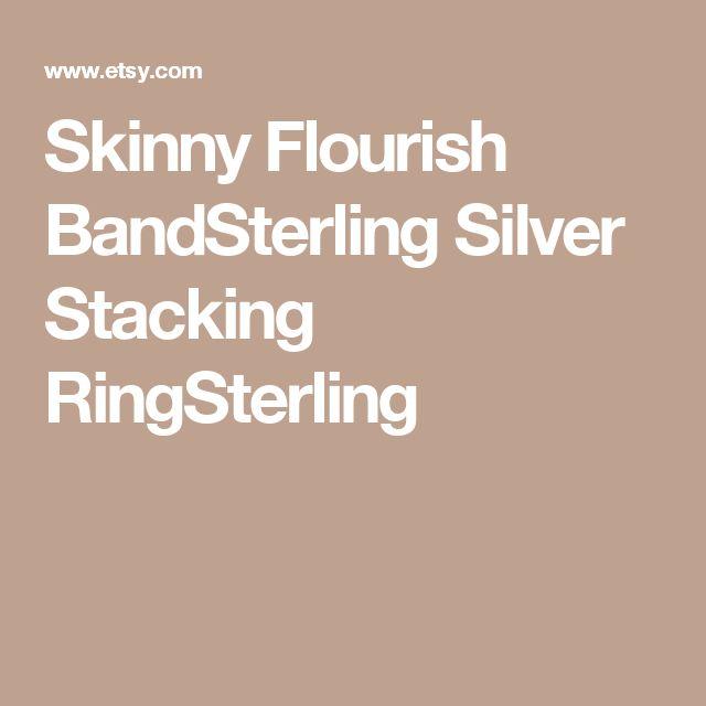 Skinny Flourish BandSterling Silver Stacking RingSterling