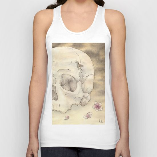 Ephemeral by Samy-Consu, UNISEX TANK TOP with different colors, #society6 @society6 #dark #macabre #gothic #goth