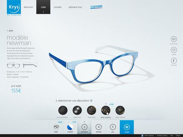 Krys Configurator by yul, via #Behance #Webdesign