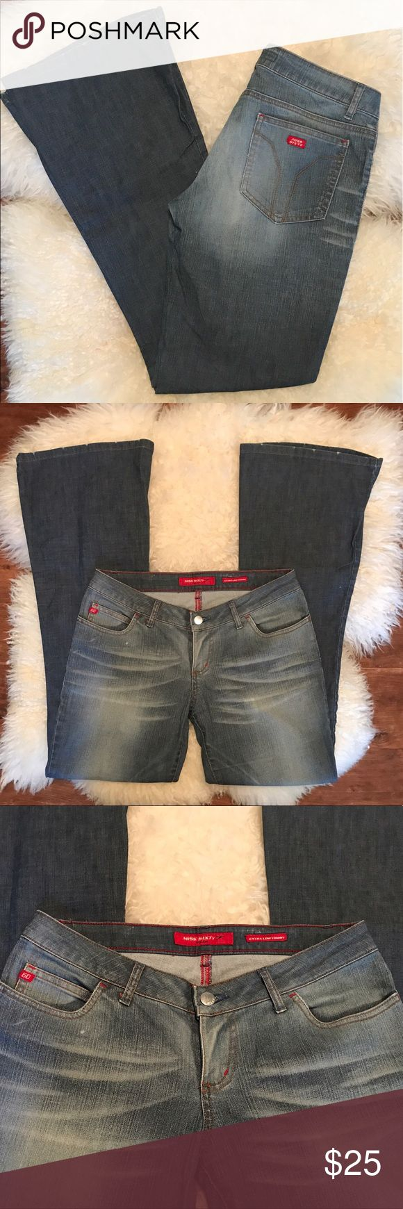 """Miss Sixty jeans Miss Sixty, """"extra low tommy"""" style, flare leg, distressed hems, size 29, inseam 31"""" Miss Sixty Jeans Flare & Wide Leg"""