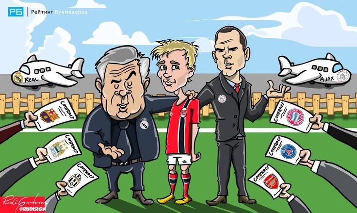 Вундеркинд из Норвегии Мартин Эдегор желаем всеми клубами Европы, но главные претенденты на него - Реал Мадрид и Аякс