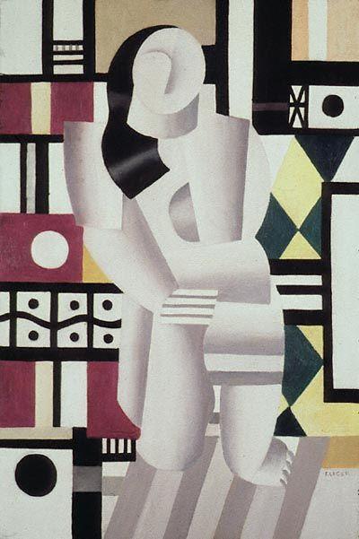 Femme dans genou, huile de Fernand Leger (1881-1955, France) #Orne #PureNormandie