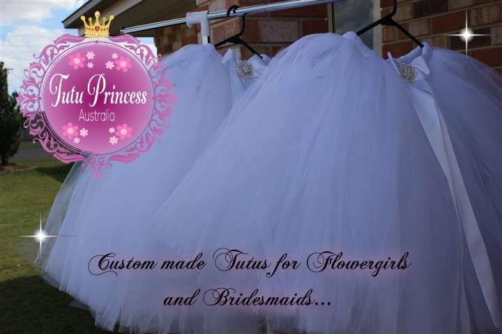 Handmade by Tutu Princess Australia Custom made Tutus for Flowergirls and Bridesmaids.