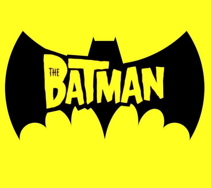 The BATMAN cartoon title logo