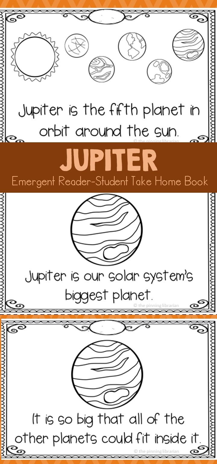 Student take home booklet about Jupiter is full of facts for your students. This booklet is a great way for students to share what they are learning about with their family.