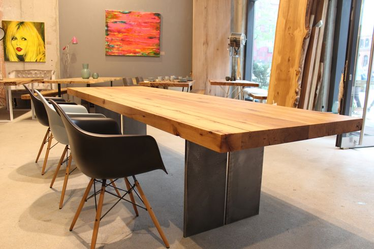 201 best massivholztische esstische dinningtable images on for Holztisch industriedesign