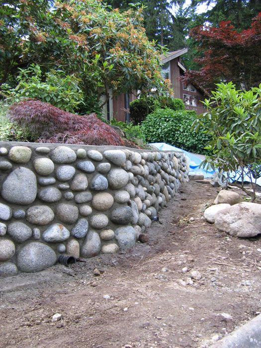 river rock wall house of fun pinterest