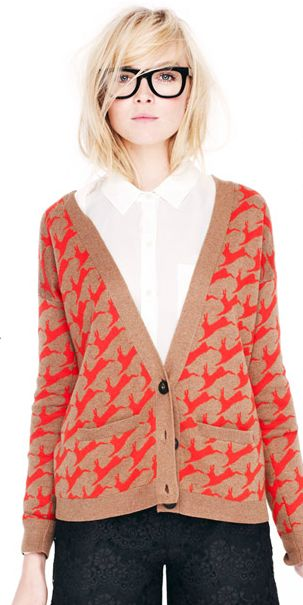 Madewell...love the sweater...the glasses?  not so much