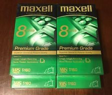 Lot of 4 Maxell Sealed Video Cassette Tapes 8 Hours Premium Grade VHS T-160