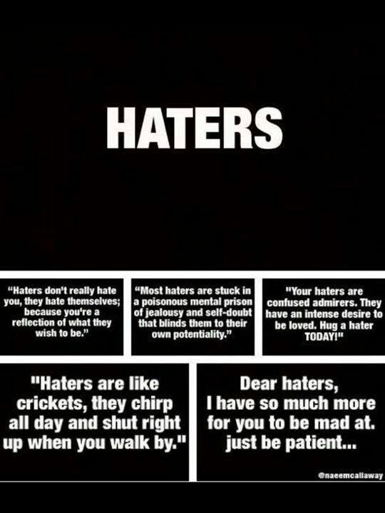 Tony Greenstein Blog: 17 Best Images About Hater Quotes On Pinterest