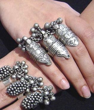 amazing Amrapali silver tribal rings