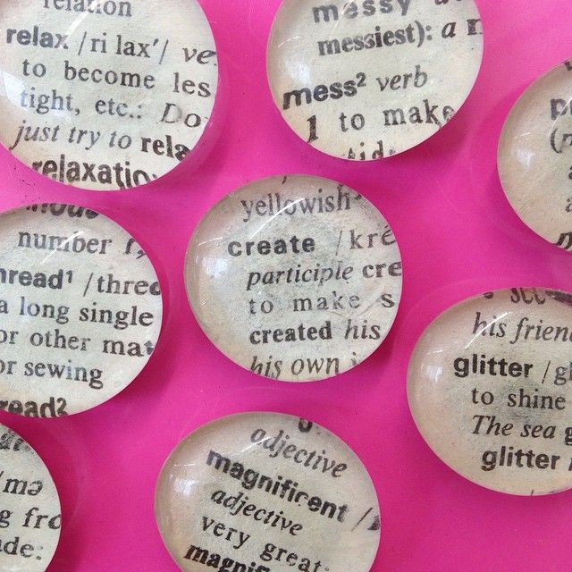 DICTIONARY MAGNETS from Amanda Formaro, Crafts by Amanda
