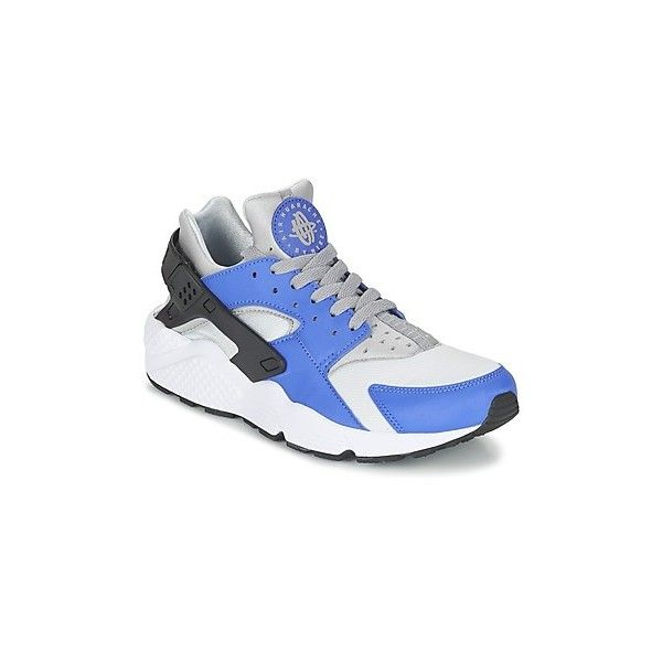 Nike AIR HUARACHE RUN Shoes (Trainers) ($130) ❤ liked on Polyvore featuring men's fashion, men's shoes, blue, men, shoes, trainers, mens blue shoes, nike mens shoes and mens shoes