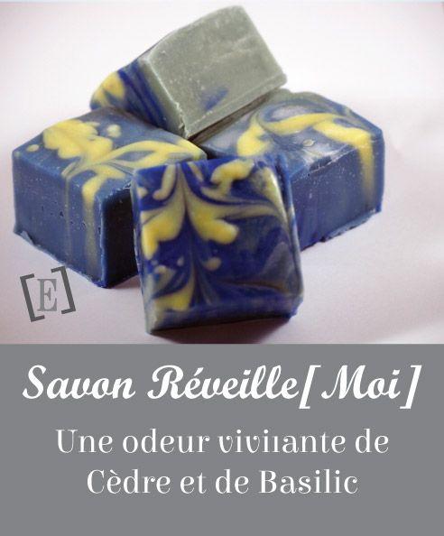 Un savon plutôt masculin qui sent bon le Cèdre et le Basilic Exotique... En plus, il est beau ! #Savon #Fait main #Huiles essentielles