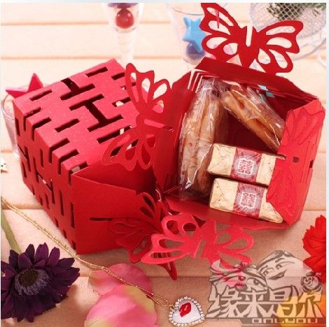 Double Happiness Wedding Favour Box