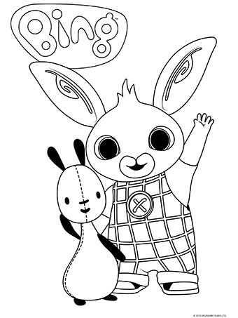 Pin By Sara Altheyab On Kids Craft Bing Bunny Coloring