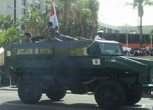 Wer'wolf MKII on parade in downtownWindhoekon 20 March 2015 during Namibia's Independence celebrations