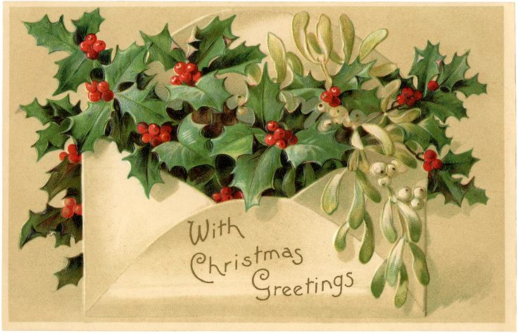 Christmas Holly Image! - The Graphics Fairy