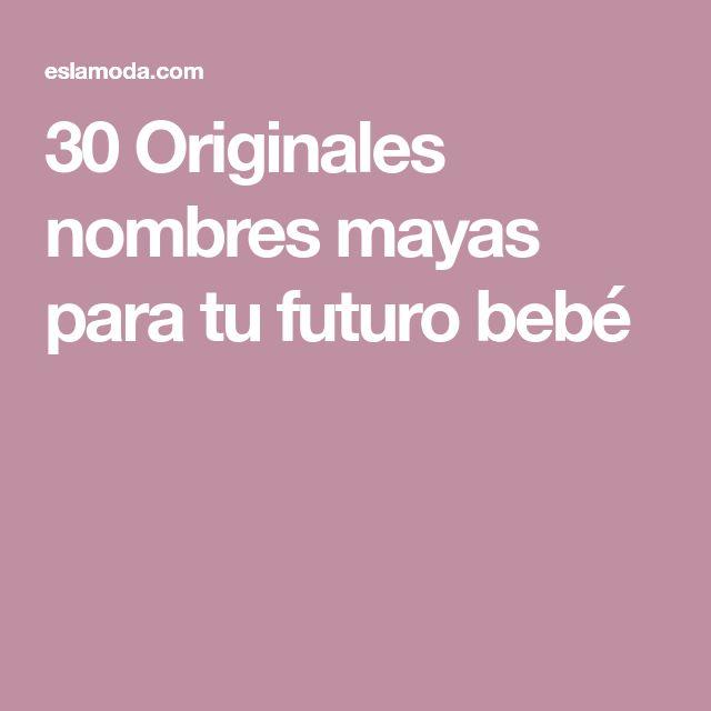 30 Originales nombres mayas para tu futuro bebé