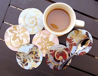 Recycled Plastic Bag Coasters-