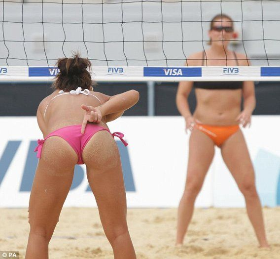 Beach players girls volleyball