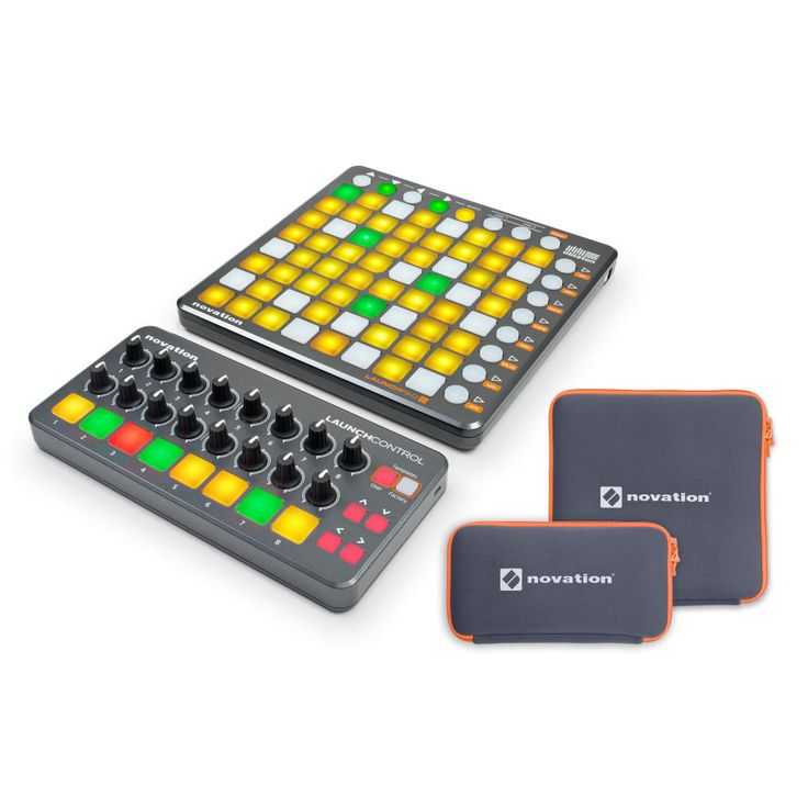 Novation Launchpad S + Launch Control + 2 Custodie + Ableton Live Lite 9 + 1GB di Samples LoopMasters.