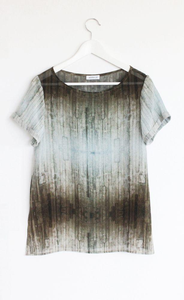 Printed sheer t-shirt
