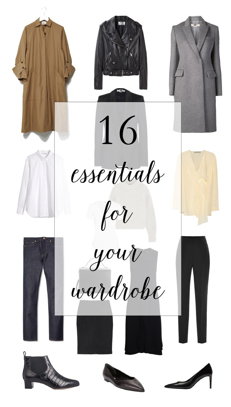 16 Essentials for Your Wardrobe #minimal #classic #capsulewardrobe