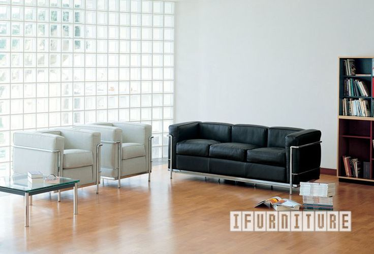 Le Corbusier LC2 Sofa Series , Replica Reproduction, NZ's Largest Furniture Range with Guaranteed Lowest Prices: Bedroom Furniture, Sofa, Couch, Lounge suite, Dining Table and Chairs, Office, Commercial & Hospitality Furniturte