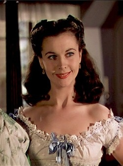 Scarlett O'Hara in, 'Gone WIth The WInd', 1939.