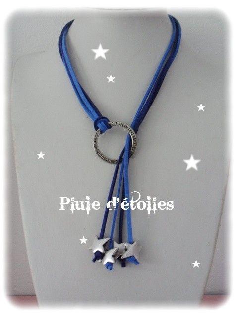 Colliers Daim - Pluie d'étoiles bijoux