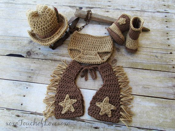 Cowboy Up  Cowboy set with Chaps Hat Diaper by xoxoTouchofLovexoxo, $60.00