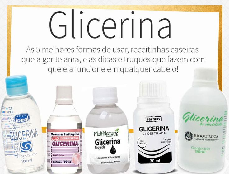 As melhores formas de usar glicerina no cabelo, as dicas e truques que fazem com que ela funcione em qualquer cabelo, independente da umidade!