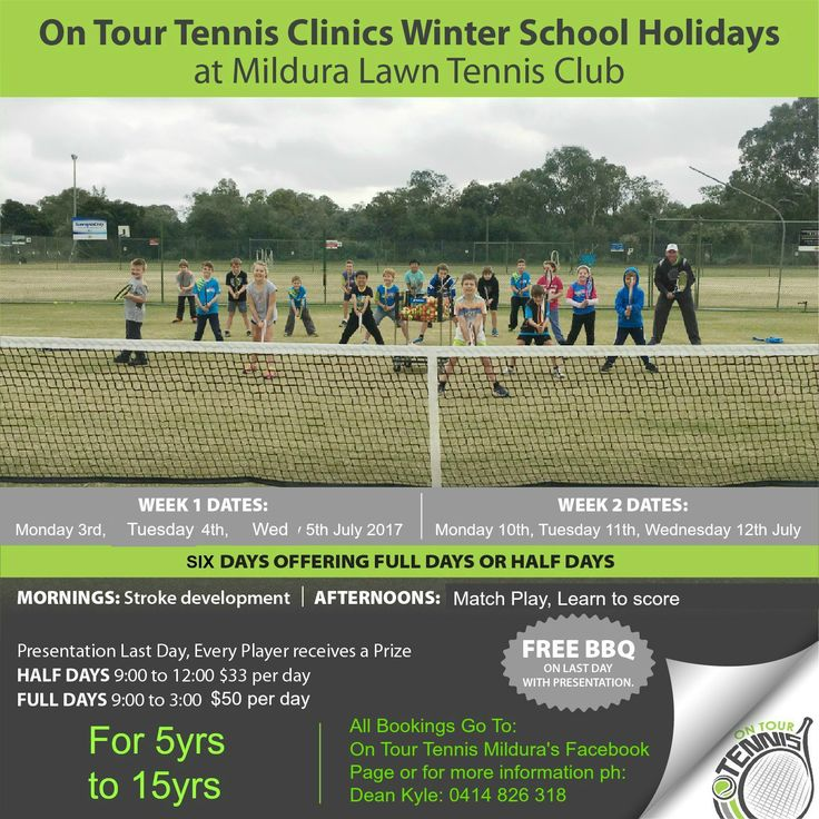 #ActiveKids #Mildura Great Fun to be had at On Tour Tennis Clinics. Book for tomorrow and Wednesday :)
