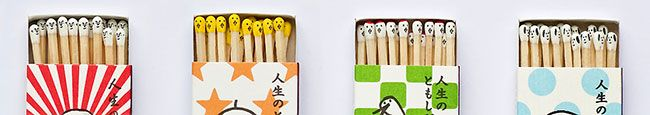 Playing with fire takes the literal meaning here. Osaka-based artist Hiromi Hirasaka saw boring matchsticks as a potential blank canvas, so started drawing Kokeshi-style faces on the match heads, creating these super cute and quirky design pieces.