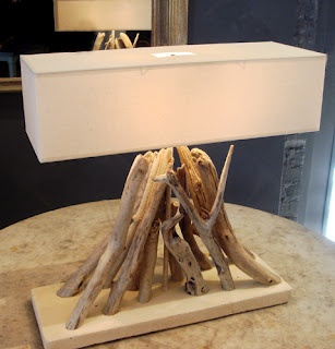 Amazing Driftwood Lamp...a With The Rectangular Lampshade, Adds A Modern Rustic  Element