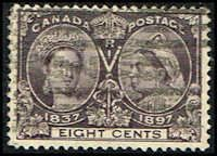 Canada #56 Stamp for sale  8 cents Diamond Jubilee Stamp  60th Year of Queen Victoria's Reign  N CA 56-1