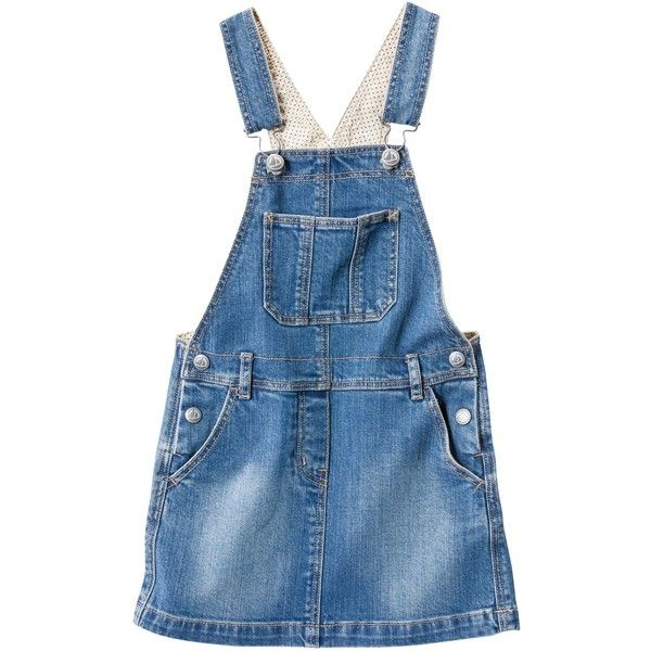 blue Jean ($43) ❤ liked on Polyvore featuring jumpsuits, rompers, dresses, overalls, skirts and bottoms