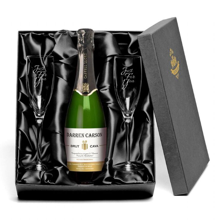 Delicious and bubbly this personalised Cava is certainly the best way to celebrate a special anniversary Presented in a luxury gift box with a set of