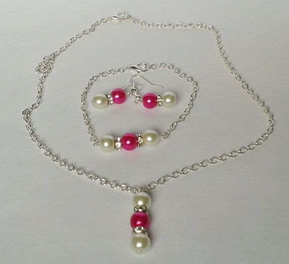 Check out this item in my Etsy shop https://www.etsy.com/uk/listing/234932291/pink-bridesmaid-jewellery-pearl-set