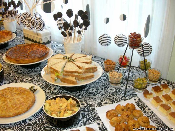 Decoracion de mesas mesa cumplea os tipo buffet - Decoracion cumpleanos adultos en casa ...