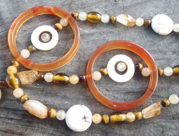 Handmade Earth inspired Necklace Citrine beads by BrigittesJewels, $52.00