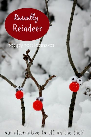 Cute Reindeer idea instead of Elf on the Shelf. Find out how what Jackie from Happy Hooligans does with these cute reindeer.
